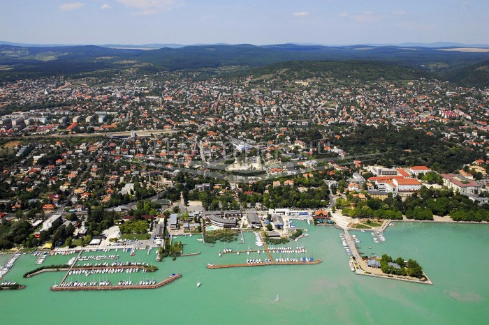 Balatonfured, right on the shores of Lake Balaton
