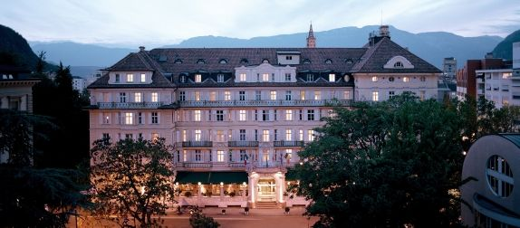 Parkthotel Laurin, Bolzano Italy - From its opening in 1910, Hotel Laurin was known as one of Europe's best establishments. Members of the imperial family of Austria, and Germany's princely families, came to enjoy the luxurious ambience