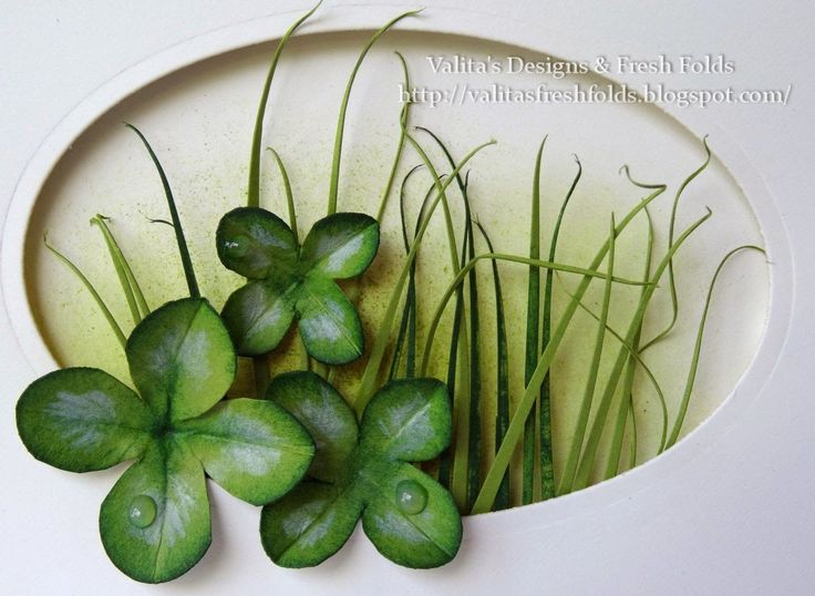 Valita's Designs & Fresh Folds: Lucky 4 leaf clover st patrick's day card... Going Green today!