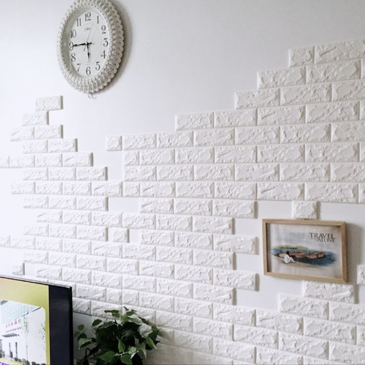 60x60cm PE Foam 3D Wall Stickers Safety Home Decor Wallpaper DIY Wall Decor Brick Sticker for Living Room Kids Bedroom