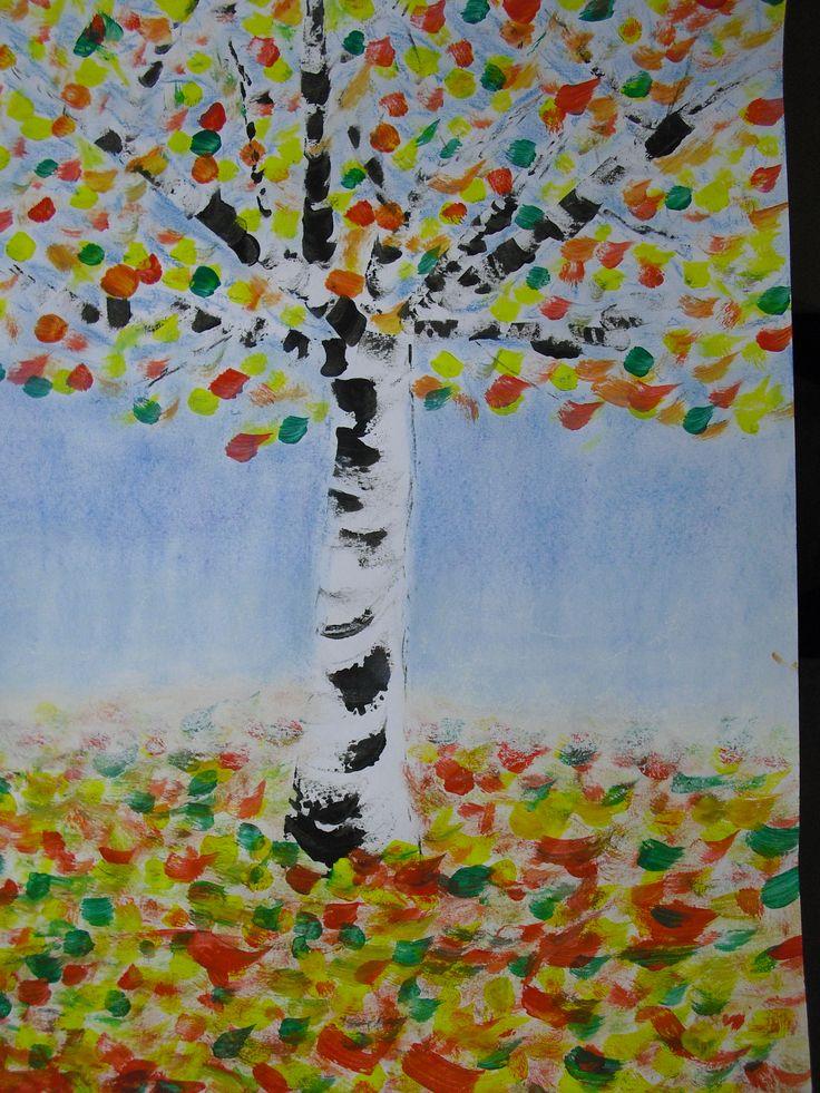 Tekenmaar kinderen: herfst