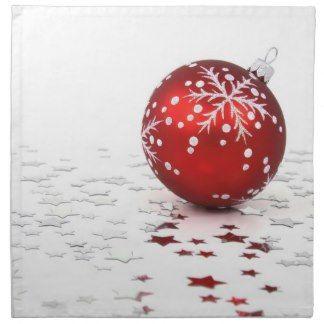 Christmas Holiday Stars Cloth Napkins