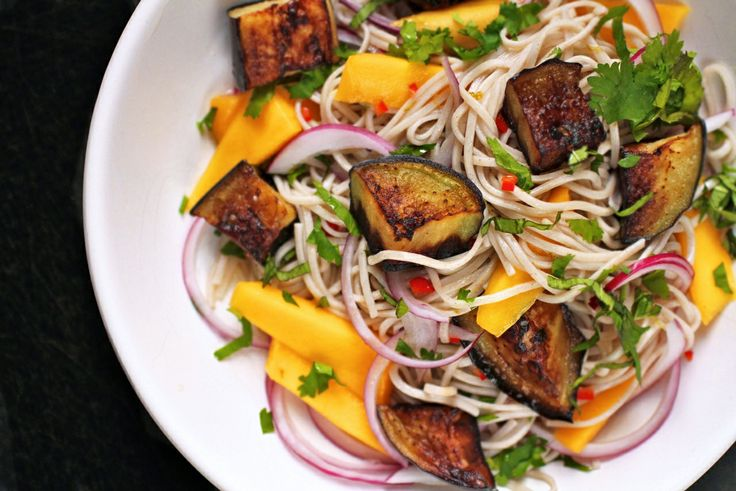 ottolenghi soba noodles with eggplant & mango | FOOD | Pinterest ...