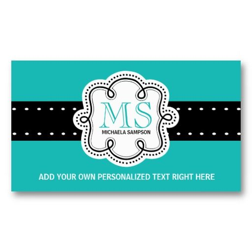22 best order business cards online images on pinterest business pretty turquoise solid color girl calling card reheart Gallery