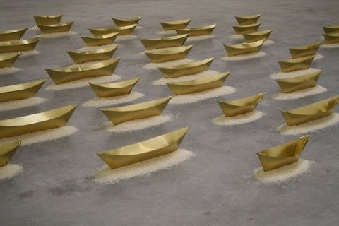 Wolfgang Laib – Passageway Inside-Downside @ Galerie Thaddaeus Ropac