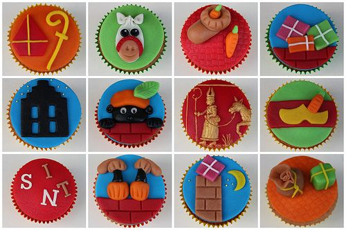 Sinterklaas cupcakes made by me