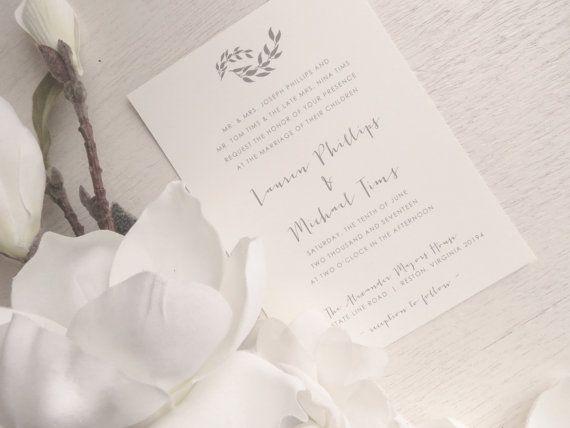Faire-part de mariage imprimable Style par ThatPrettyInvitation