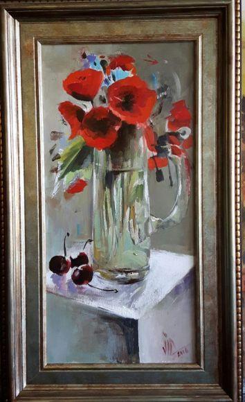 Poppys on a mug