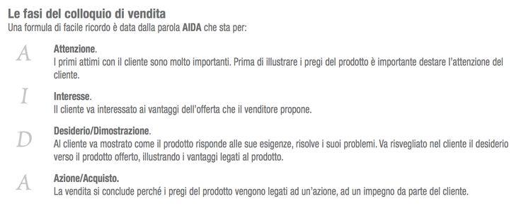 #MarketingDelSerramento: Le fasi del colloquio di vendita. Una formula di facile ricordo è data dalla parola AIDA che sta per... http://dld.bz/dhbat