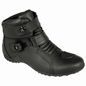 Pra não molhar os pés na chuva... bota eurox monza 1030 preta couro hidrofugado diadora 100% impermeável - botas. / Levi Motos