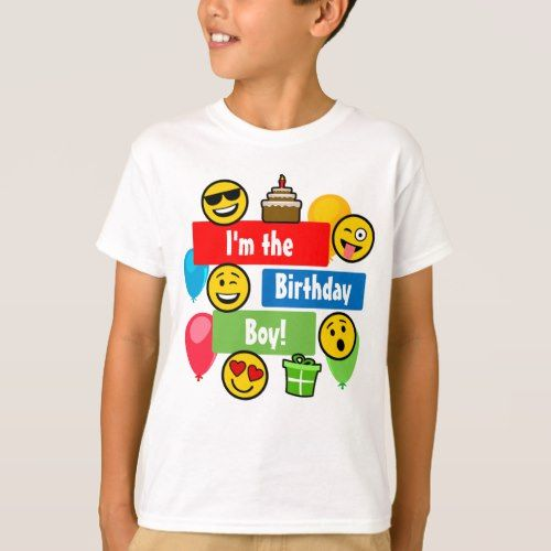 Emoji Birthday Boy T Shirt