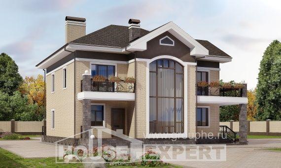 200-006-R Projekt domu dwukondygnacyjnego, średni domek z cegieł, Olsztyn