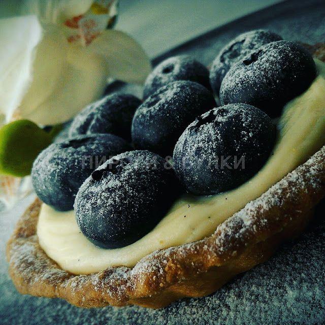 ПИРОГИ & БУЛКИ: Тарт с черникой и заварным кремом / порция (8 штук...