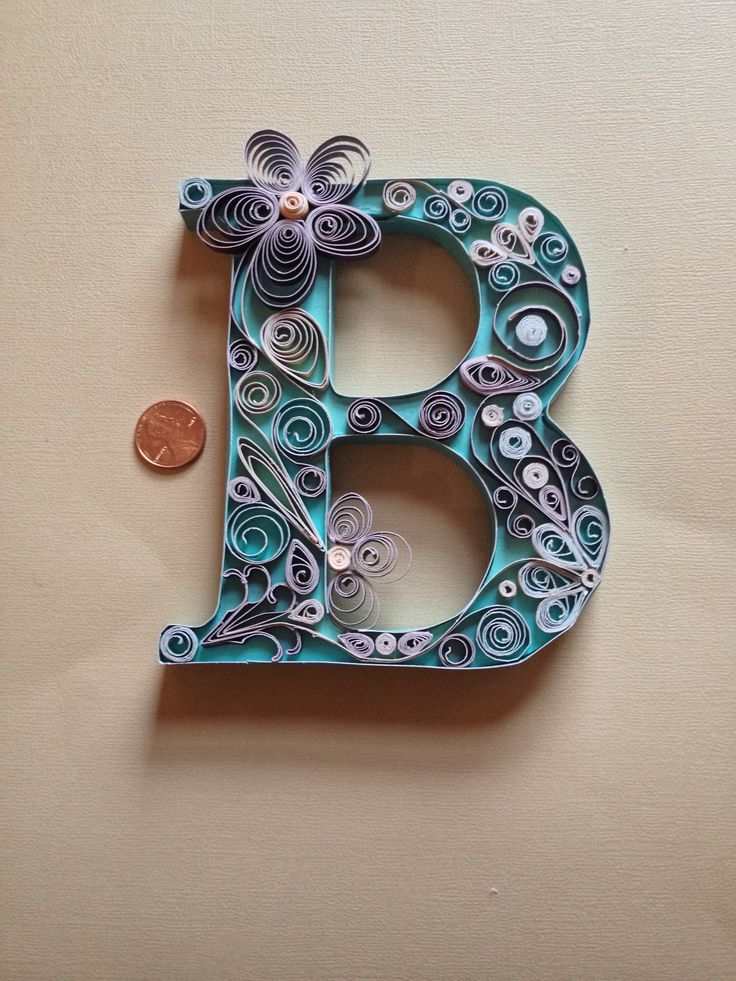 4c5bf2556983aaf0e8fcb00de1675fd5--letter-b-monogram-letters Quilling Letter B Template on