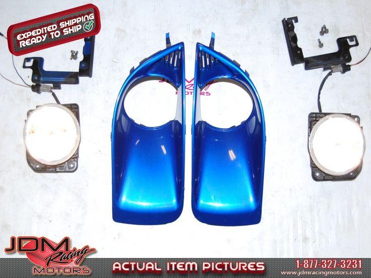 Used Subaru WRX 2004-2005 v8 Foglights, Foglight Bezels & Mounting Brackets Kit.  Find this item on our website: https://www.jdmracingmotors.com/engine_details/2137  Tags: #jdm #jdmracingmotors #jdmsubaru #v8fogs #v8foglights #subarulights