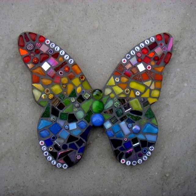 Rainbow Mosaic Butterfly Garden Ornament                                                                                                                                                                                 More