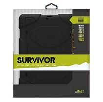 Griffin Survivor All-Terrain Case w/ Stand for iPad 1, 2 and 3 - Black/Black