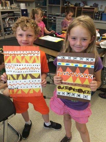 Jamestown Elementary Art Blog: Kindergarten Native American blankets