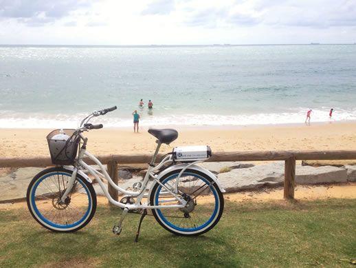 caloundra electric bike - Caloundra Coasting: Exploring Six Beaches on Electric Bikes ~ www.parkmyvan.com.au #ParkMyVan #Australia #Travel #RoadTrip #Backpacking #VanHire #CaravanHire