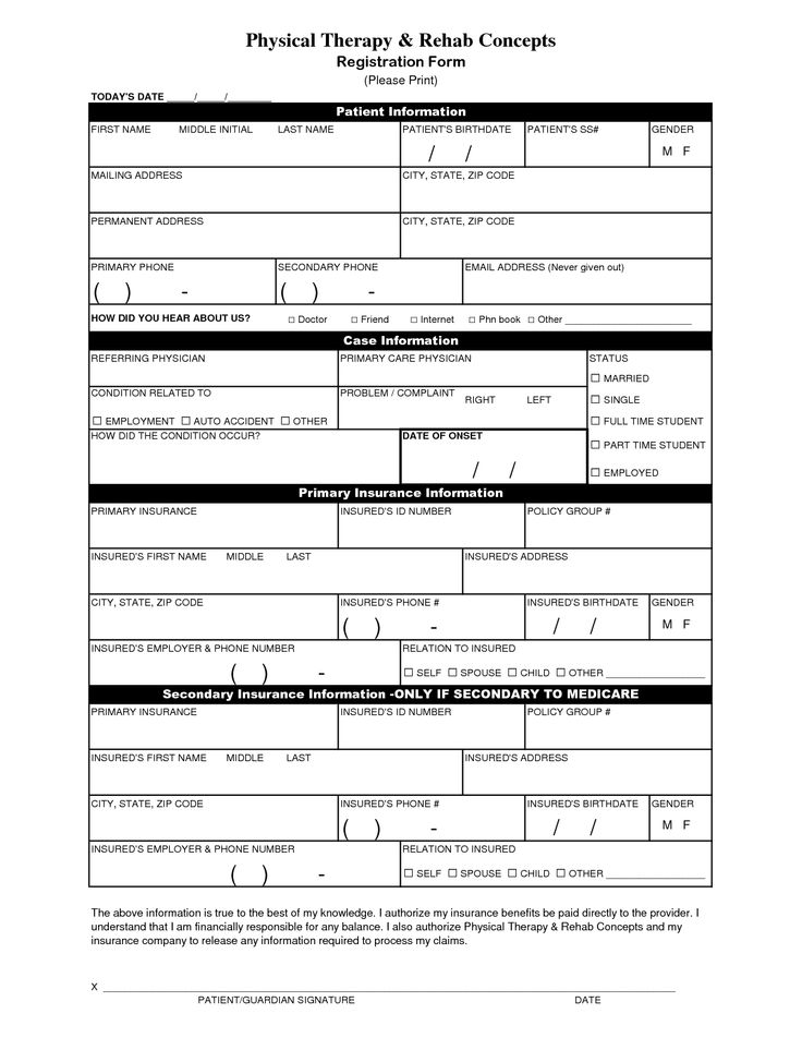 Printable Doctor Release Form  Ideas For The House