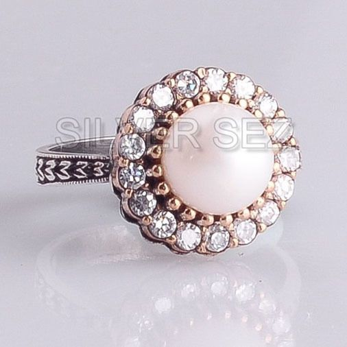 925 sterling silver ring turkish handmade ottoman models - Silver Sez