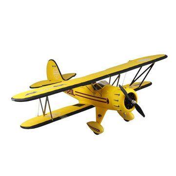 Dynam Waco Yellow 1270mm 50inch Wingspan RC Warbird PNP