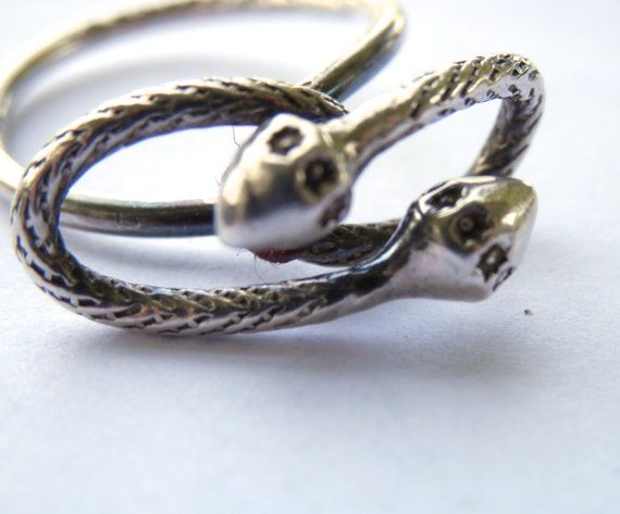 Vintage Snake Ring Jamaica West Indies Sterling by TheJewelryChain