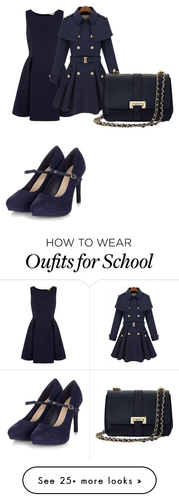 """prep school style"" by georgie-mills on Polyvore featuring Yumi and Aspinal of London"