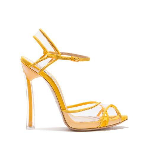 5b4762a2259 Casadei Plexi Blade Crodino. Casadei Plexi Blade Crodino Yellow Sandals ...