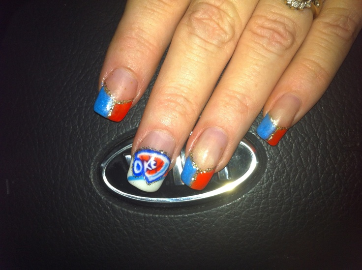 40 best nails thunder images on pinterest thunder nail art okc thunder nails kathy reihm classy cutenid ok prinsesfo Image collections
