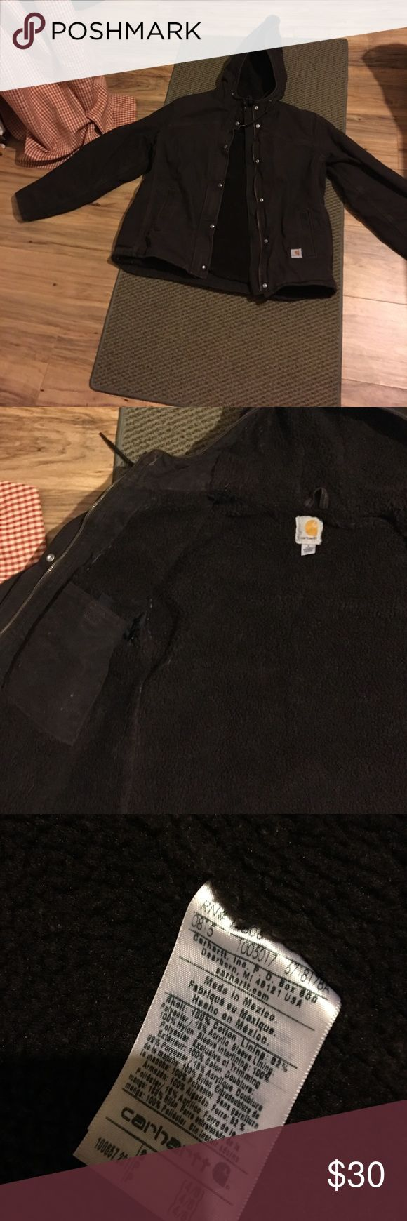 Womens brown carhartt jacket Brown carhartt jacket sz s(4/6) new W/o tags Carhartt Jackets & Coats Utility Jackets