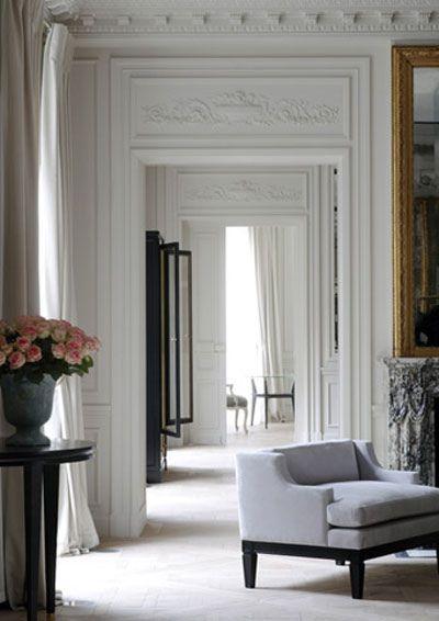 *sigh*: Living Rooms, Joseph Dirand, Interiors Design, High Ceilings, Modern Houses, South Shore Decor, Design Home, Decor Blog, White Wall