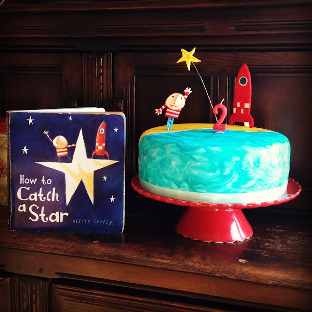 Oliver Jeffers 'How To Catch A Star' birthday cake.    Image © Tiffany Grant-Riley