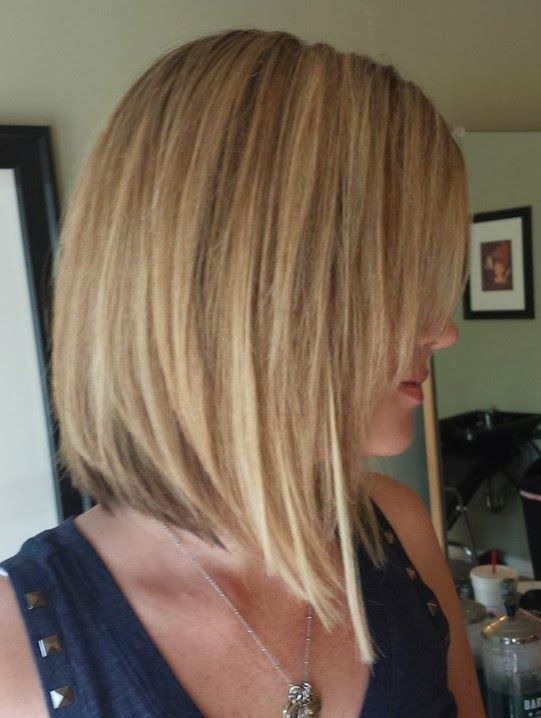 layered medium inverted bob for fine hair with bangs - Google Search