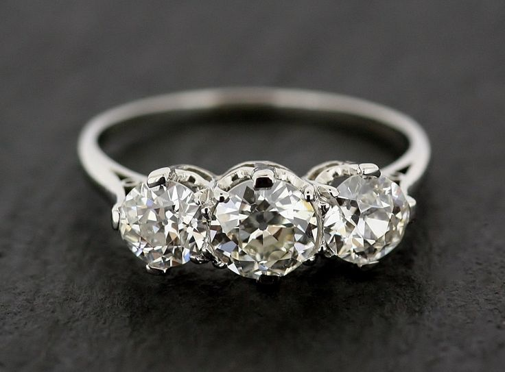 Antique Diamond Engagement Ring Three Stone by AlistirWoodTait, £9,995.00