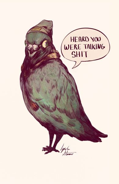 """Heard you talking shit!"" Art Print by IzzyStanic on Society6."