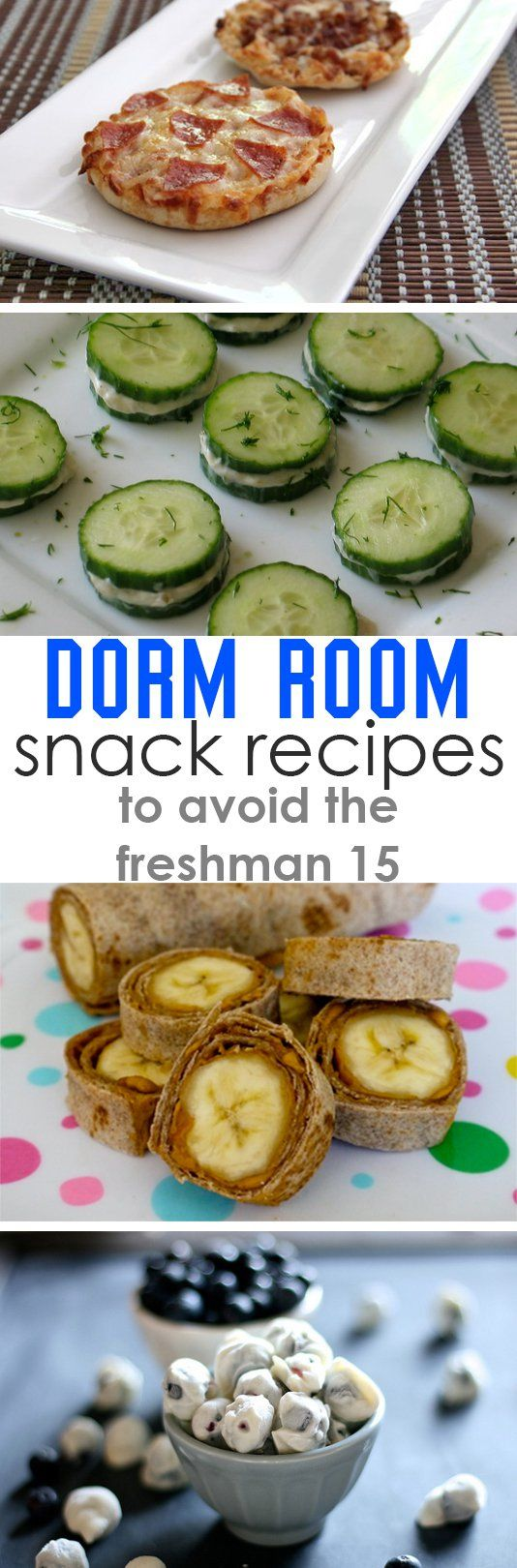 Healthy Dorm Room Snack Recipes  @kylabeann maybe some of these yes? to counteract the massive amount of Oreos and peanut butter we're gonna eat