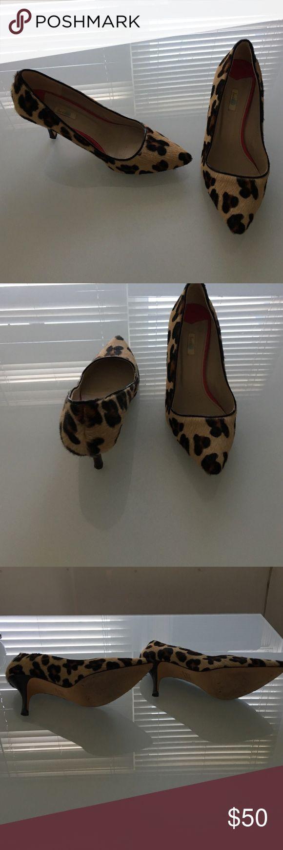 "Boden Leopard Print Pumps Boden leopard print pumps with 3"" heel, worn twice Boden Shoes Heels"