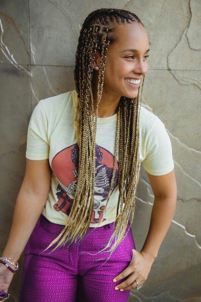 She feeling summer 💜 | Alicia keys braids, Alicia keys ...