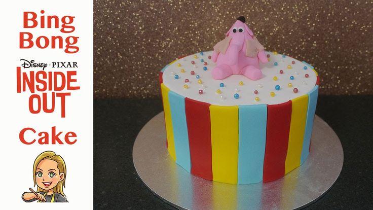 Disney Pixar's Inside Out Cake featuring Bing Bong