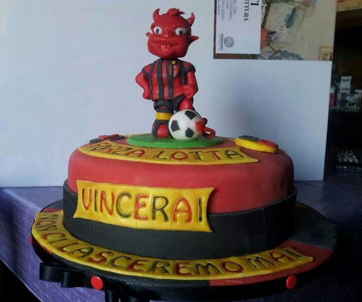 Milan fan cake
