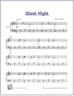 Silent Night   Free Sheet Music for Easy Piano by wavemusicstudio, via Flickr