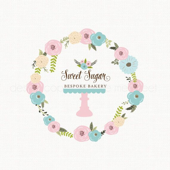Cake Stand Logo Bakery Logo Bakers Logo by stylemesweetdesign