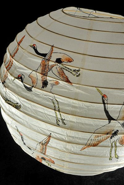 "I'm kinda liking these. Paper Lanterns 16"" Japanese Crane Paper Round Lantern $3.99 each/ 10 for $3.49 each"