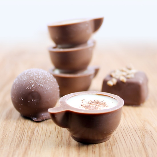 #chocolate Lifestyle image taken for possible use in the Katniss leaflet, chocolate cups looking good and tasting better...