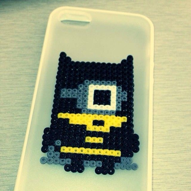 Minion Batman perler beads by shineyee427