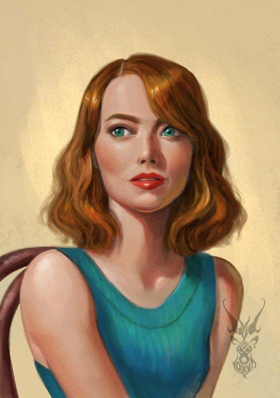 Emma Stone by David Lojaya