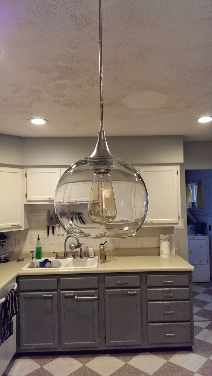 My Old Kentucky House Blog: DIY pendant globe shades or how to cut glass with a Dremel