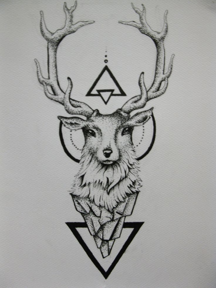 Deer Tattoo by duDuArte.deviantart.com on @DeviantArt