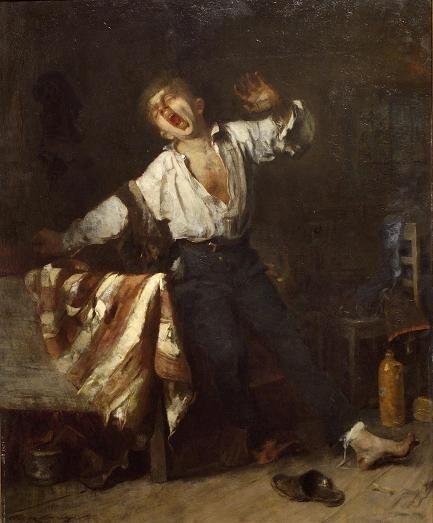 Munkácsy Mihály - Ásító inas